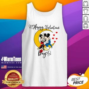 Mickey Mouse And Minnie Mouse Happy Valentines Day Valentine's Day Tank Top - Design By Warmtees.com
