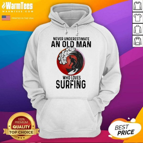 Never Underestimate An Old Man Who Loves Surfing The Moon Hoodie