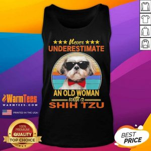 Never Underestimate An Old Woman With A Shih Tzu Vintage Tank Top