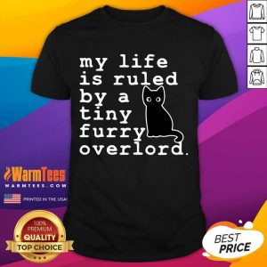 Awesome Black Cat Life Furry Overlord Shirt