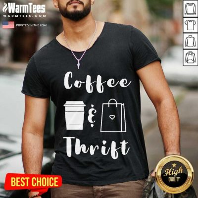 Coffee And Thrift Novelty V-neck