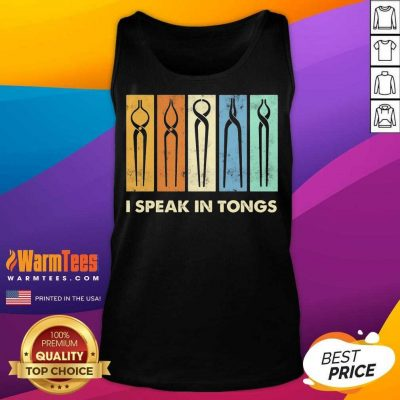 Awesome I Speak Tongs Vintage Great 5 Tank Top
