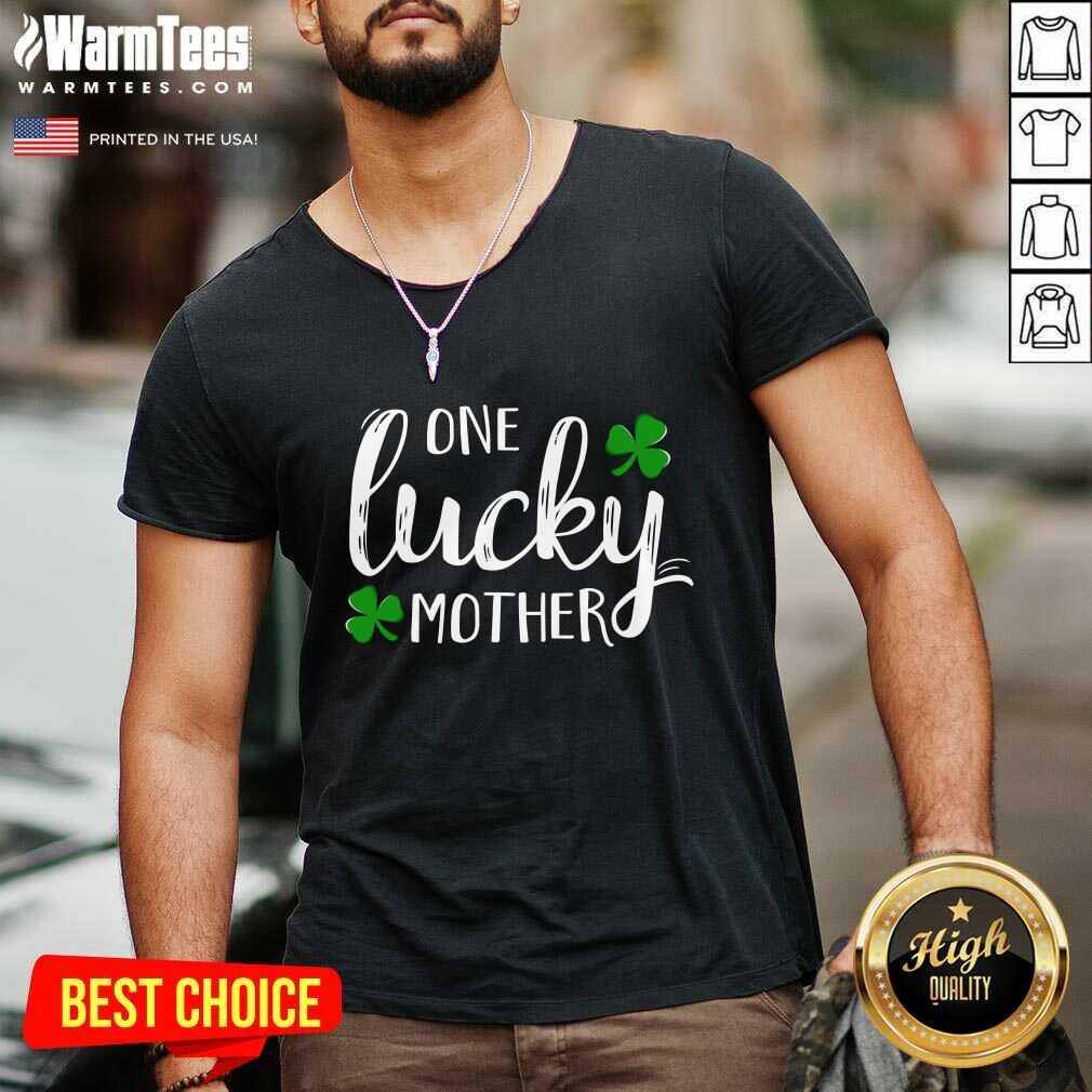 St Patricks Day One Lucky Mother V-neck