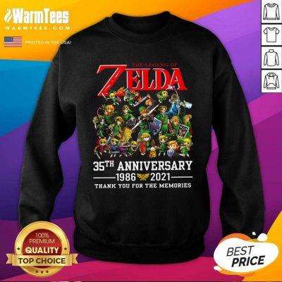 The Legend Of Zelda 35th Anniversary 1986 2021 Thank You For The Memories SweatShirt