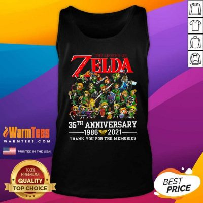 The Legend Of Zelda 35th Anniversary 1986 2021 Thank You For The Memories Tank Top