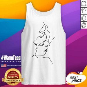 Fantastic Abstract Face Design Art Tank Top