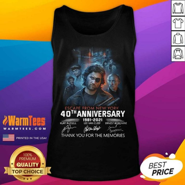 Fantastic Escape From New York 1981 Tank Top