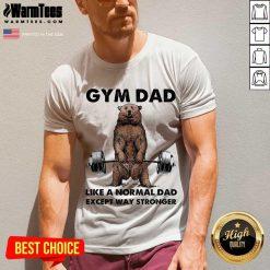 Fantastic Gym Dad Except Stronger 5 V-neck