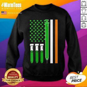 American Flag Shamrock Clover St Patricks Day Mexico SweatShirt