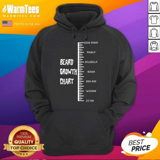 Funny Beards Crowth Chart Great 78 Hoodie