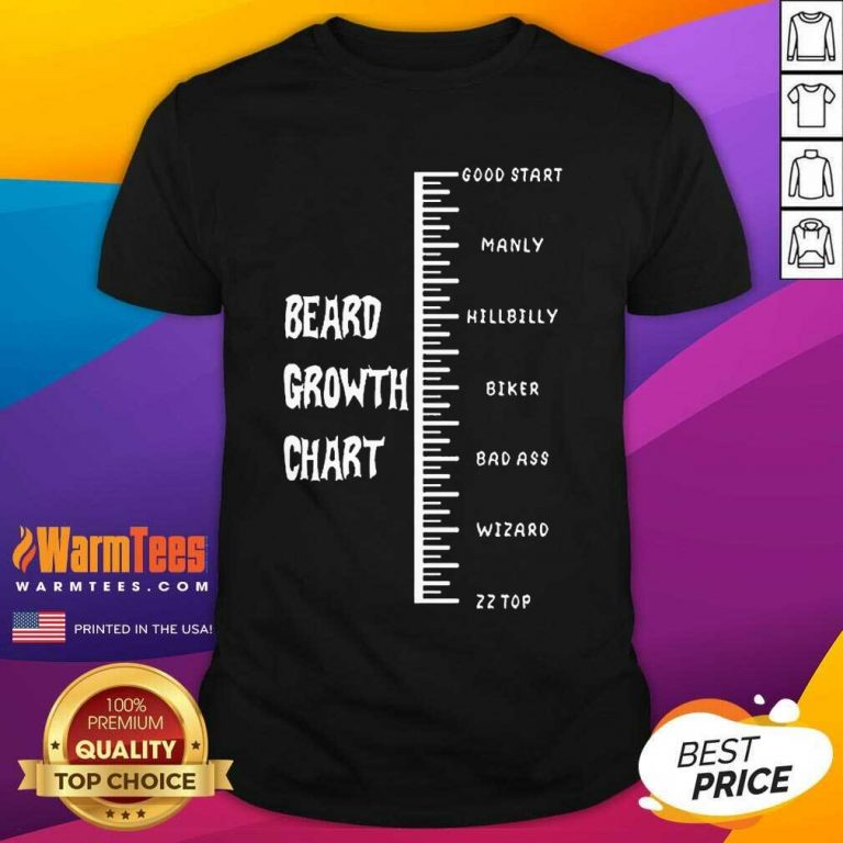 Funny Beards Crowth Chart Great 78 Shirt