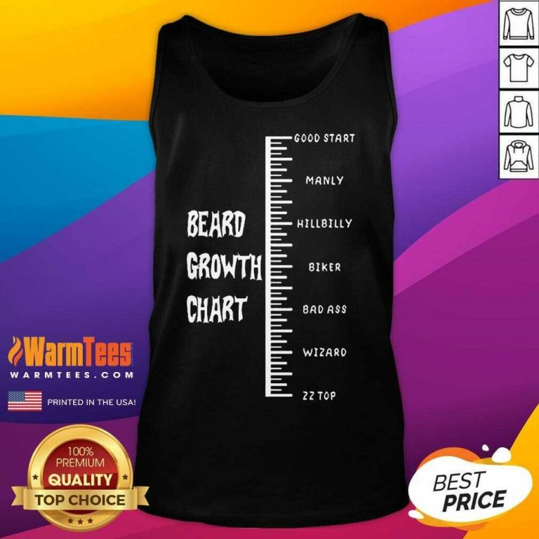 Funny Beards Crowth Chart Great 78 Tank Top