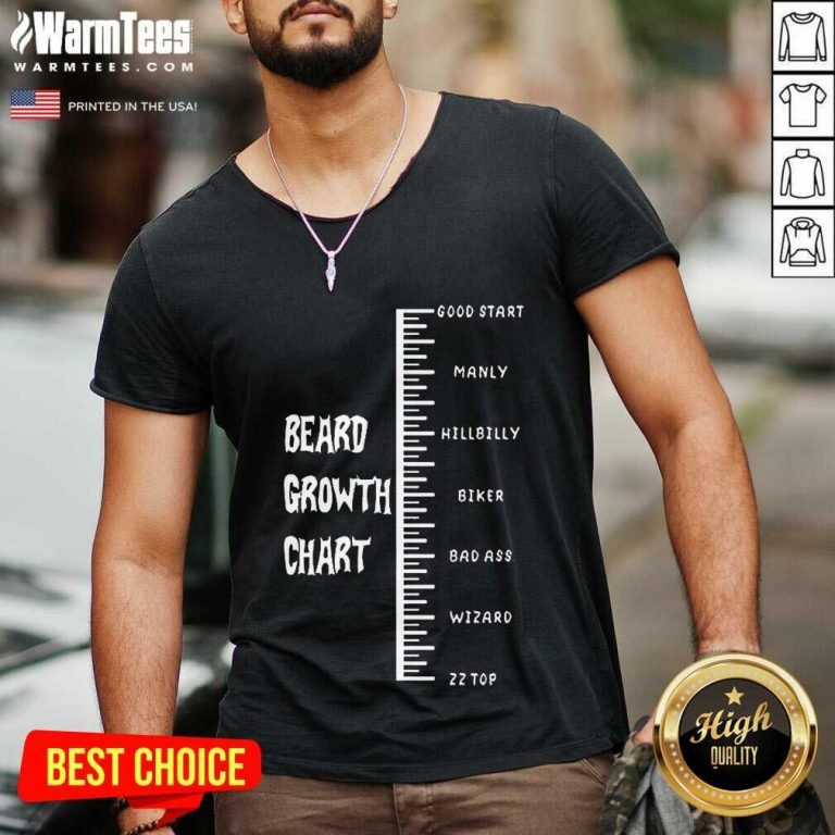 Funny Beards Crowth Chart Great 78 V-neck