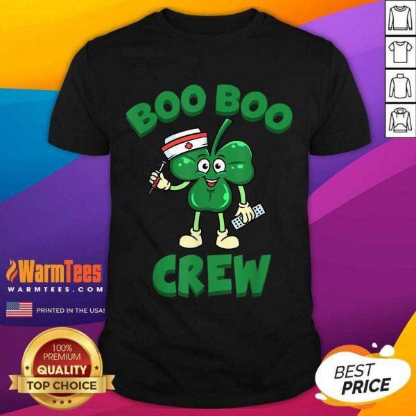 Beautiful St Patricks Day Nurse Boo Boo Crew Green Lucky Gift Shirt