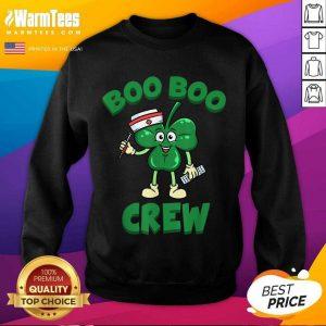 Beautiful St Patricks Day Nurse Boo Boo Crew Green Lucky Gift SweatShirt