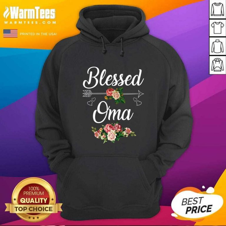 Blessed Oma Flower Mother Day Hoodie