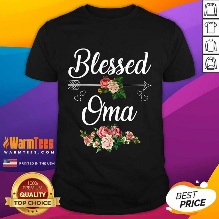 Blessed Oma Flower Mother Day Shirt