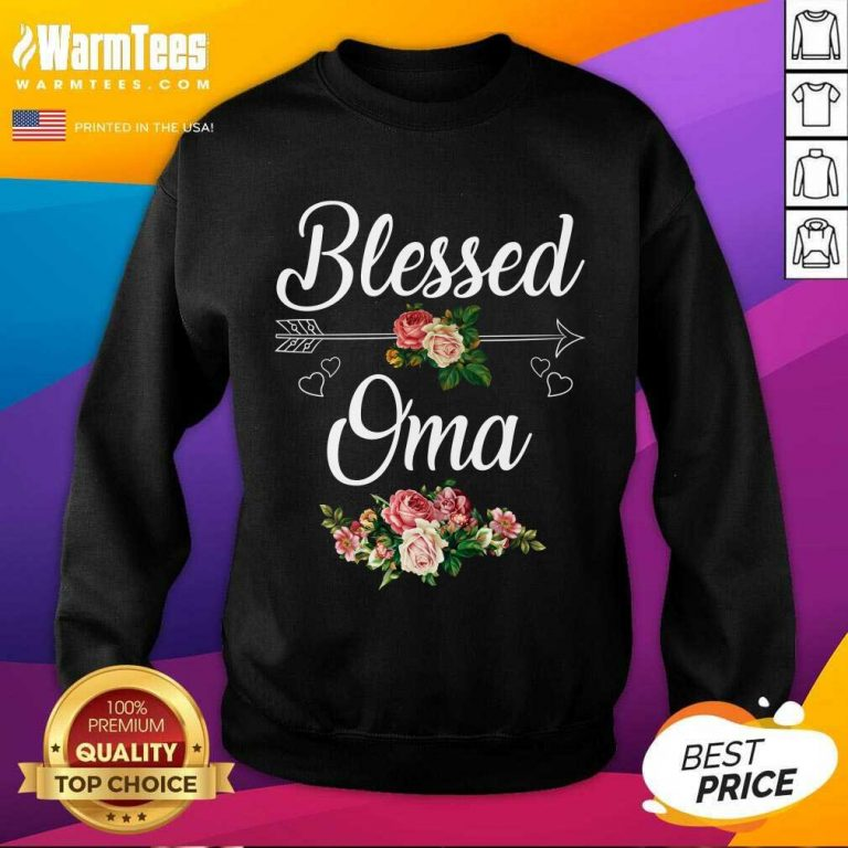 Blessed Oma Flower Mother Day SweatShirt