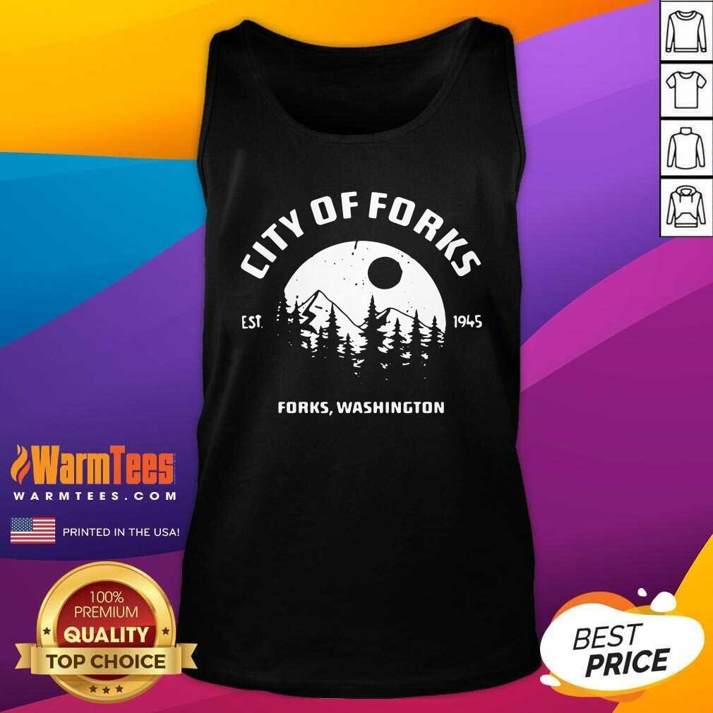City Of Forks Forks Washington Est 1945 Tank Top