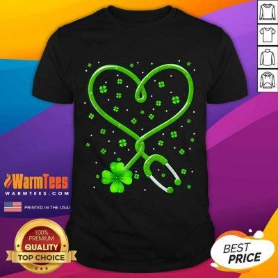 Heart Nurse Shamrock St Patricks Day Shirt