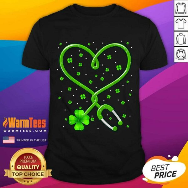 Heart Nurse Shamrock St Patricks Day Shirt
