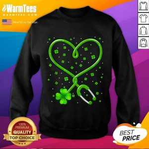 Heart Nurse Shamrock St Patricks Day SweatShirt