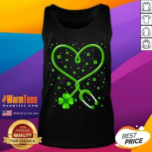 Heart Nurse Shamrock St Patricks Day Tank Top