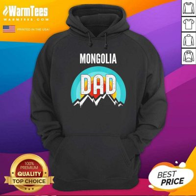 Mongolia Dad Fathers Day 2021 Hoodie