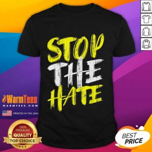 Funny Stop The Hate Asian Surprised Shirt