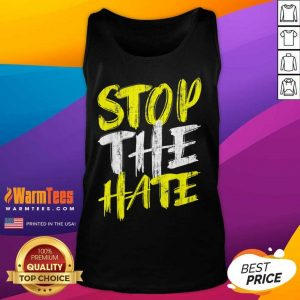 Funny Stop The Hate Asian Surprised Tank Top
