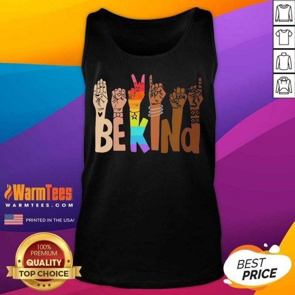 Be Kind Hands Lgbt Tank Top