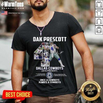 Good Dak Prescott 4 Dallas Cowboys V-neck