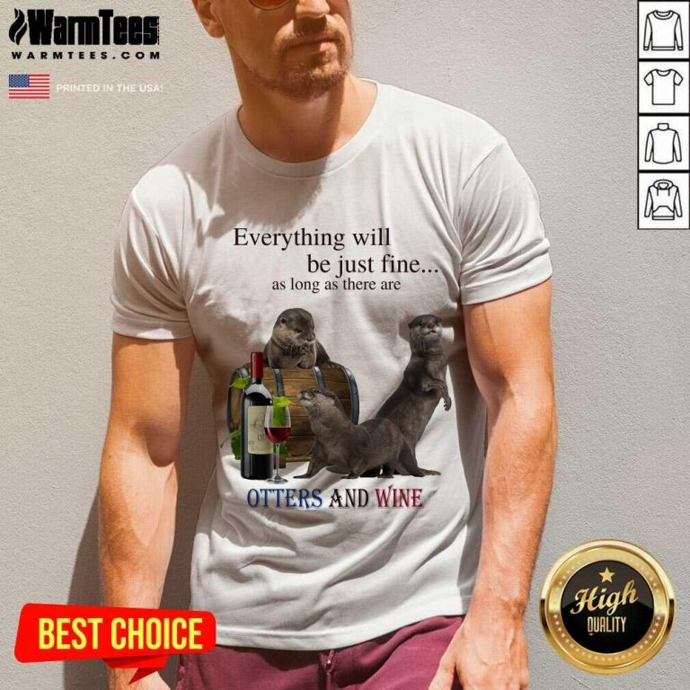 Good Everything Otters And Wine 35 V-neck
