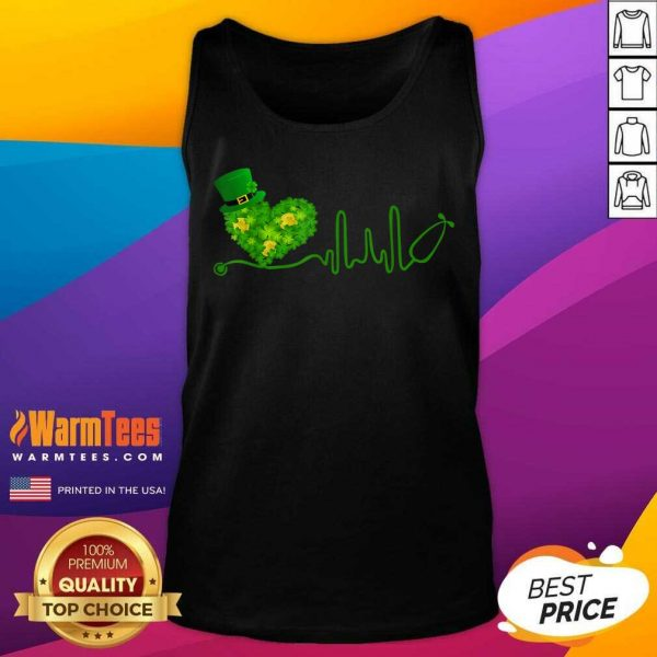 Heart Stethoscope St Patricks Day Tank Top