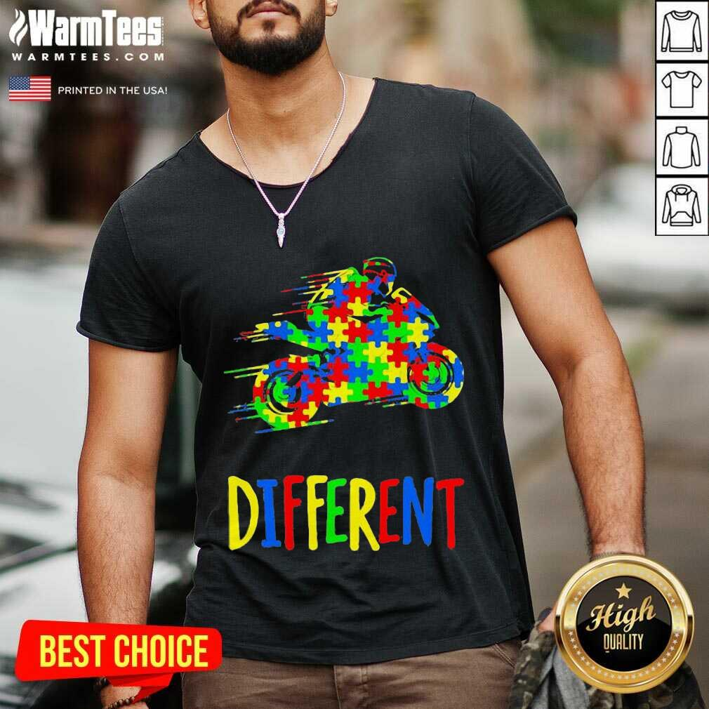 It's Ok To Be Different Autism Awareness V-neck