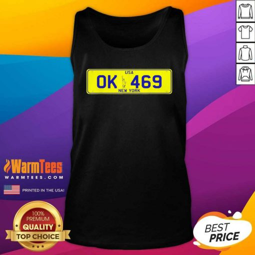 Novelty New York Number Plate Tank Top
