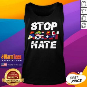 Happy Stop Asian Hate Flag Positive Tank Top
