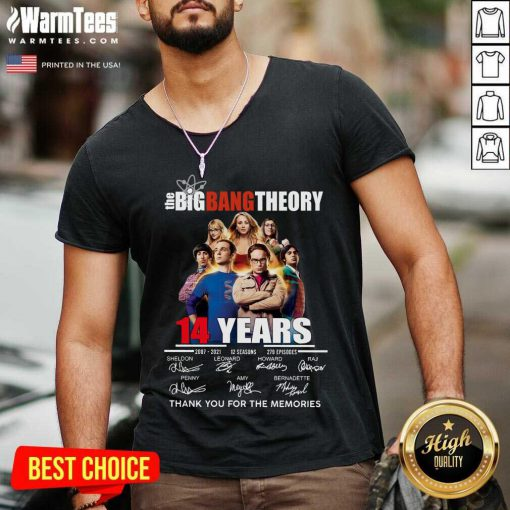 Happy The Big Bang tTheory 14 Years 2007 2021 12 seasons 279 episodes signatures V-neck