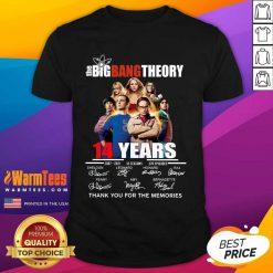 Happy The Big Bang tTheory 14 Years 2007 2021 12 seasons 279 episodes signatures shirt