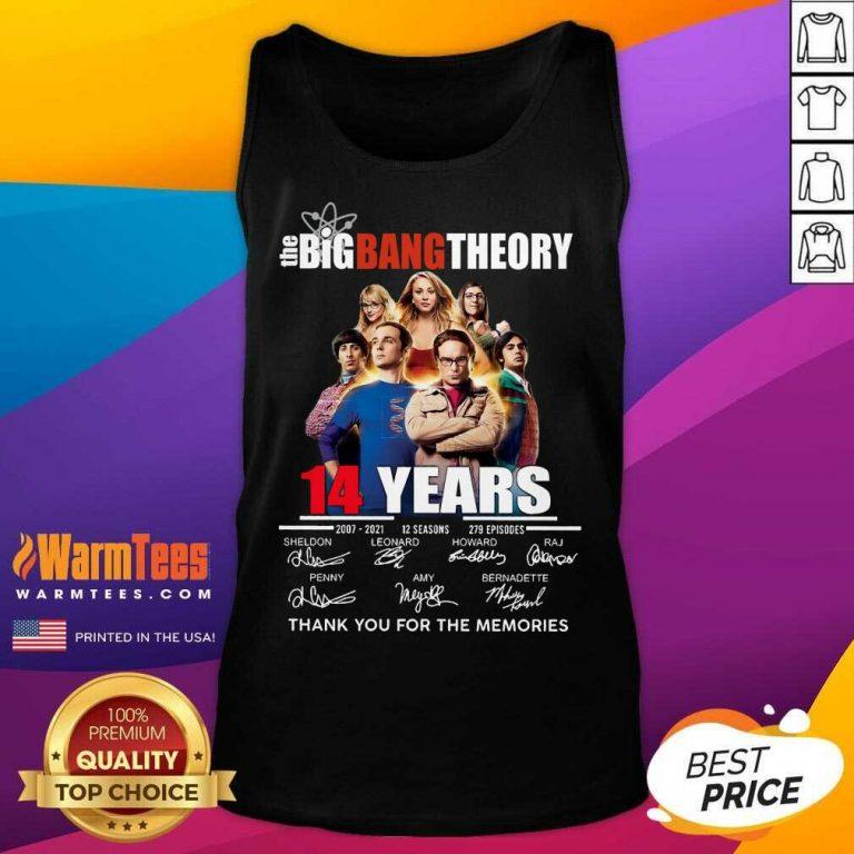 Happy The Big Bang tTheory 14 Years 2007 2021 12 seasons 279 episodes signatures Tank Top