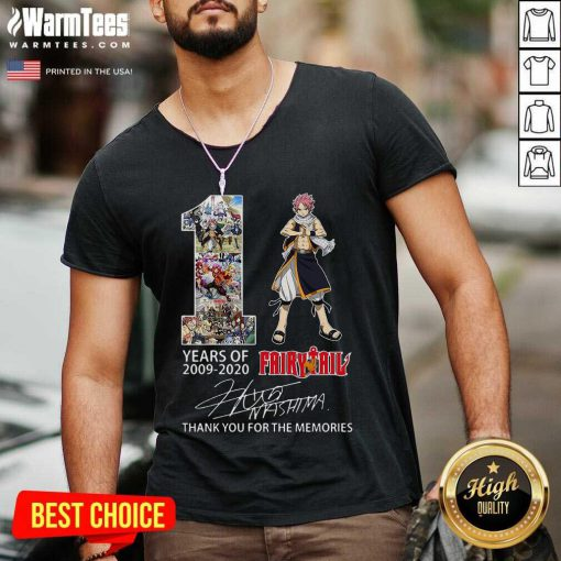 11 Years Of 2009 2021 Fairy Tail Thank You For The Memories Signature V-neck