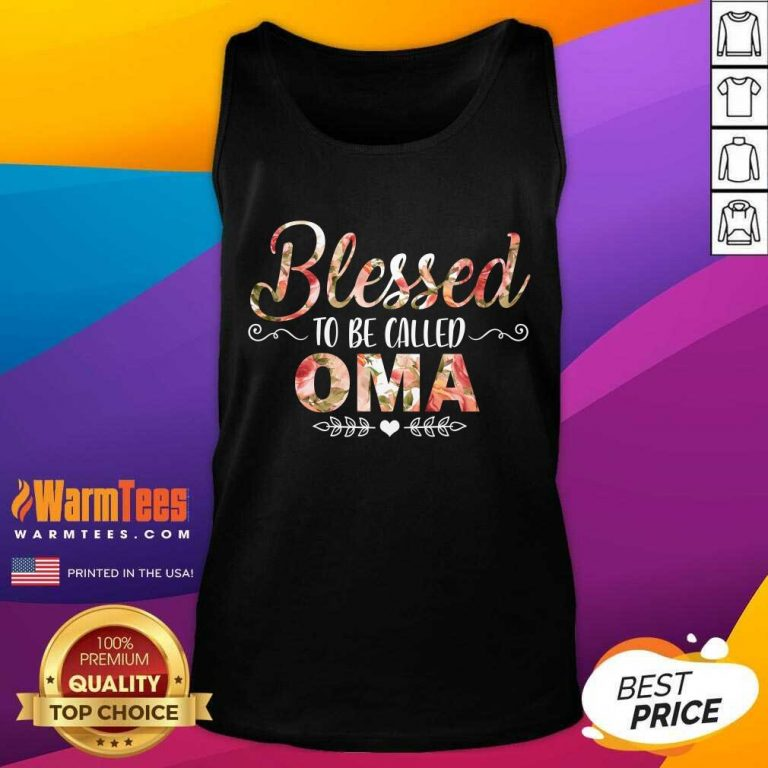 Blessed To Be Called Oma Mother Day Tank Top