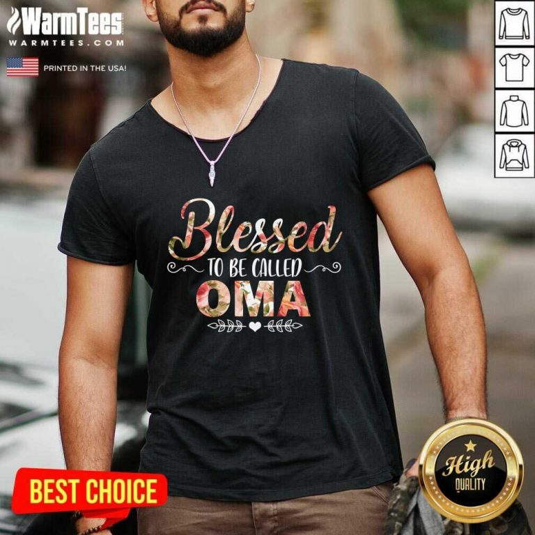 Blessed To Be Called Oma Mother Day V-neck