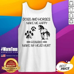 Hot Dogs And Horses Make Me Happy Human Tank Top