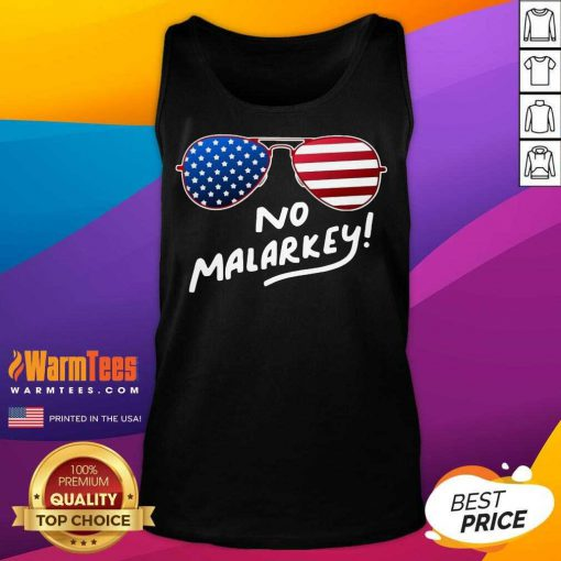 Hot Glasses American Flag No Malarkey 5 Tank Top