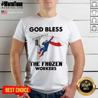 God Bless The Frozen Workers Lineman Shirt