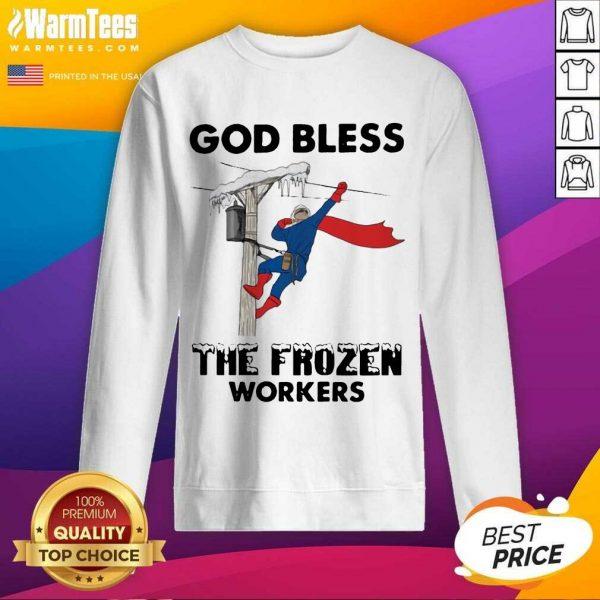 God Bless The Frozen Workers Lineman SweatShirt