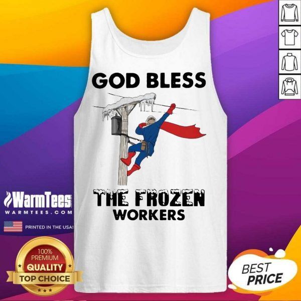 God Bless The Frozen Workers Lineman Tank Top