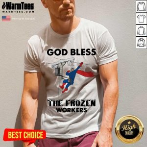 God Bless The Frozen Workers Lineman V-neck
