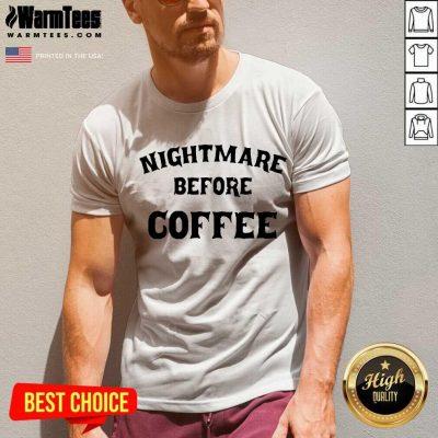 Nightmare Before Coffee V-neck